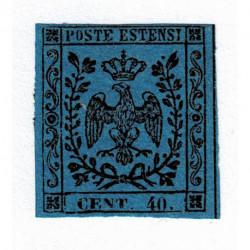 1854 ASI Ducato di Modena 40cent punto dopo cifra Sas.10 nuovo SG