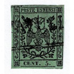 1855 ASI Ducato di Modena 5cent punto dopo cifra Sas.8 usato