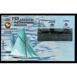 2020 Spagna royal yacht club Santander unusual lenticolare 3D FDC