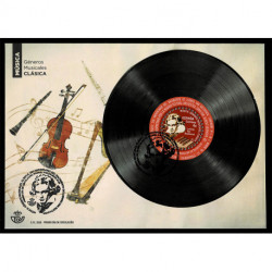 2020 Spagna 250° Ludwig van Beethoven foglietto vinile inciso - Unusual Stamps FDC