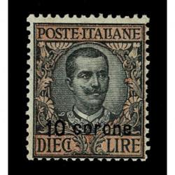 1921 Dalmazia floreale soprastampato 10 corene Sas.8 nuovo MNH/**