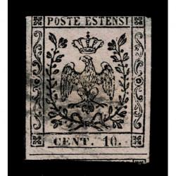 1854 ASI Ducato di Modena 10cent punto dopo cifra Sas.9 usato