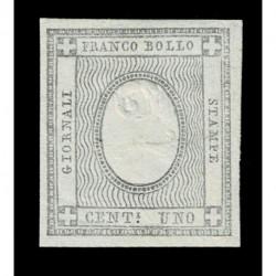 1861 ASI Sardegna 2cent francobolli per giornali Sas.20 nuovo ampi margini