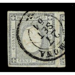 1861 ASI Sardegna 2cent francobolli per giornali Sas.20 usato