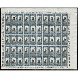 1930 Colonie Eritrea Soggetti Africani 2cent Sas.155 foglio completo