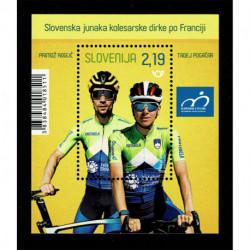 2020 Slovenia Eroi del Tour de France foglietto ciclismo