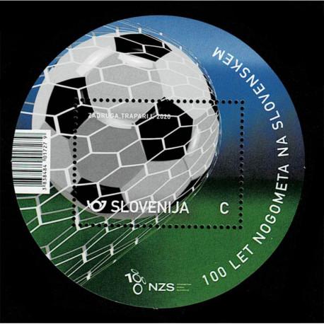 2020 Slovenia 100 Anni Di Calcio foglietto rotondo
