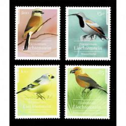 2021 Liechtenstein tematica uccelli locali MNH/**