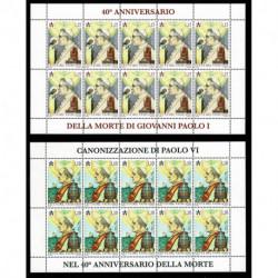 2018 Vaticano Papa Paolo VI papa Giovanni Paolo I Minifogli