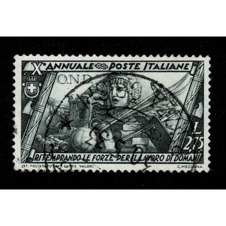 1932 Regno Decennale Marcia su Roma 2,75 Lire Sas.339 US