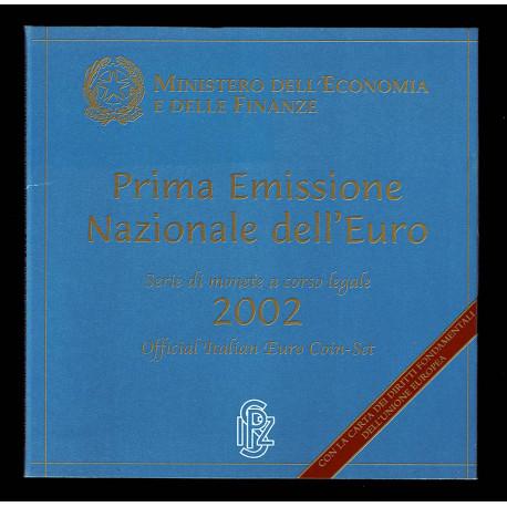 2002 Divisionale Prima Emissione Euro con carta Diritti Fondamentali