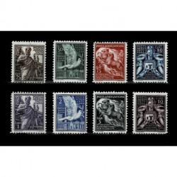 1938 Vaticano Posta Aerea soggetti vari serie nuova MNH/**