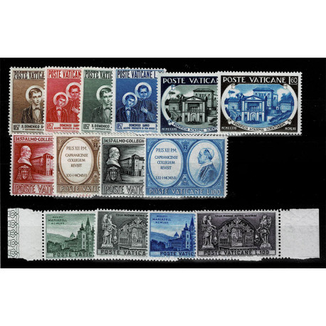 1957 Vaticano Annata completa 14Val. MNH/**