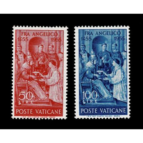 1955 Vaticano 5° centenario di Fra Angelico serie nuova MNH/**