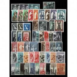 Vaticano lotto serie complete anni 50 nuove MNH/**