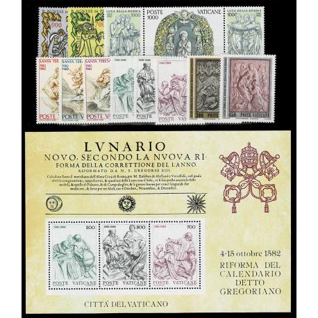 1982 Vaticano Annata completa 13 val.+ 1BF nuovi MNH/**