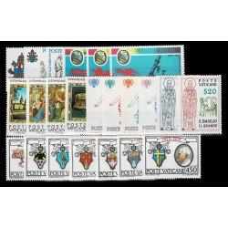 1979 Vaticano Annata completa 23 val. nuovi MNH/**