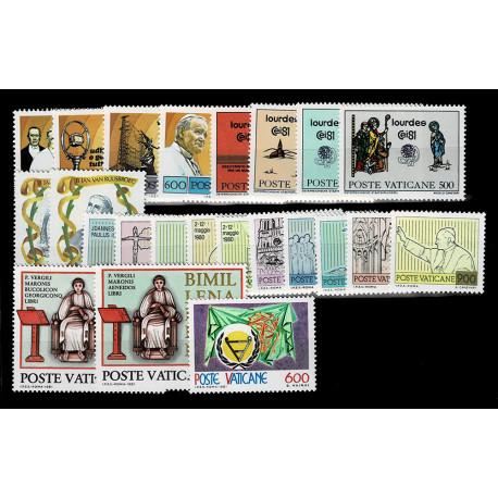 1981 Vaticano Annata completa 23 val. nuovi MNH/**