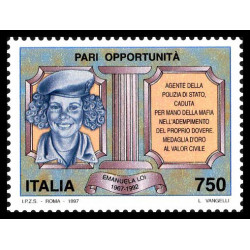 1997 Repubblica Pari opportunità MNH/**