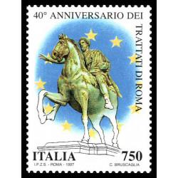 1997 Repubblica 40º anniversario dei trattati Roma MNH/**