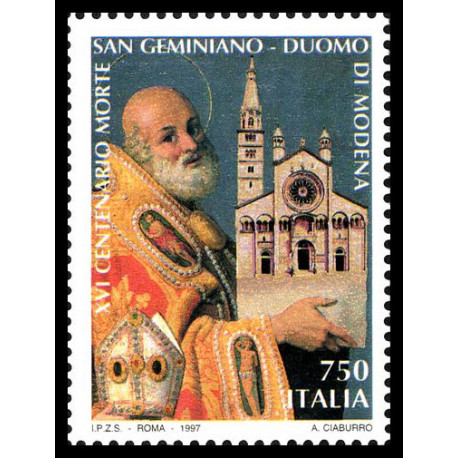 1997 Repubblica 16º centenario morte san Geminiano MNH/**