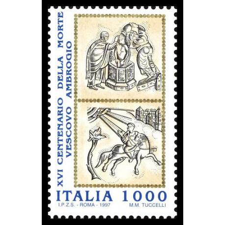 1997 Repubblica 16º centenario morte vescovo Ambrogio MNH/**