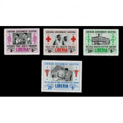 1954 Liberia Government Hospital serie con Posta Aerea MNH/**