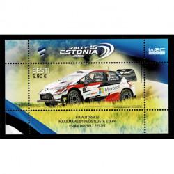 2020 Estonia WRC Rally Foglietto tematica auto