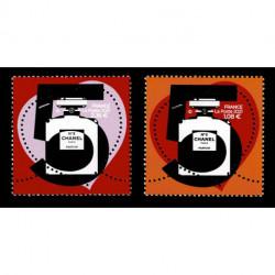 2021 Francia francobolli a forma di cuore Chanel N°5