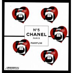 2021 Francia francobolli a cuore - Foglietto Chanel N°5