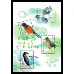 2021 Francia foglietto uccelli tipici delle isole francesi
