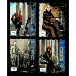 2019 Giordania EuroMed Costumi tradizionali serie