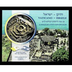 2019 Vaticano Casa di Pietro foglietto congiunto Israele