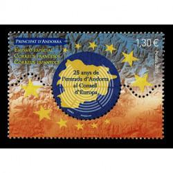 2019 Principato Andorra - Entrata consiglio Europeo Unusual stamps