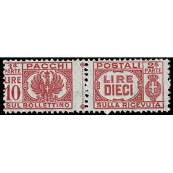 1946 Luogotenenza 10Lire Pacchi Postali Sas.64 nuovo MNH/**