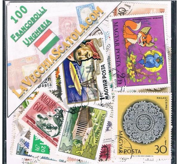100 Francobolli differenti dell'Ungheria
