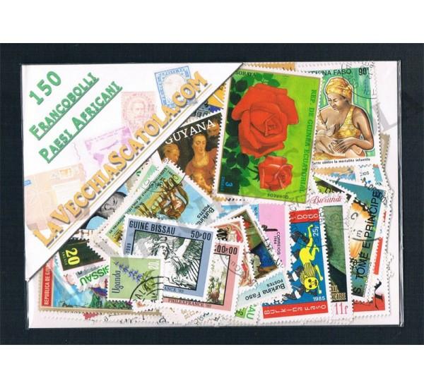150 Francobolli differenti del continente Africano