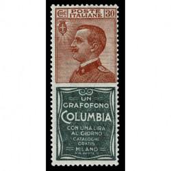 1924 Francobolli Pubblicitari 30c Columbia Sas.9 MNH/**