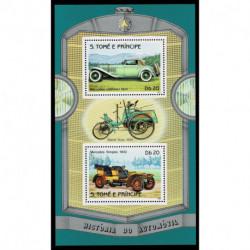 1983 S.Tomé e Príncipe storia delle automobili - Mercedes foglietto