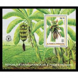 1981 S.Tomé e Príncipe giornata mondiale alimentazione - Banane