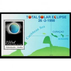 1998 Antille Olandesi foglietto Elissi di Sole olografico