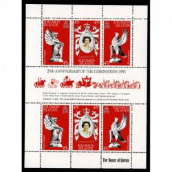 1978 Salom Island 25° incoronazione regina Elisabetta foglietto