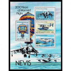 1983 Nevis 200 anni di volo con equipaggio aerei mongolfiere
