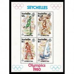 1980 Seychelles Olimpiadi di Mosca foglietto