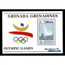 1992 Grenada foglietto olimpiadi Barcellona'92