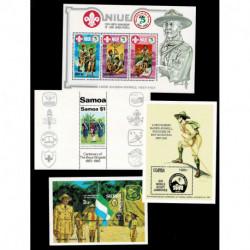 4 foglietti mondiali tematica Scout - nuovi MNH/**