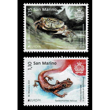 2021 San Marino fauna nazionale - emissione Europa