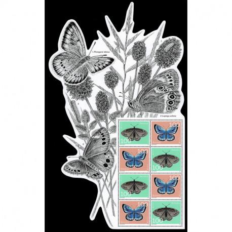 2021 Svizzera fauna nazionale farfalle - emissione Europa Foglietto
