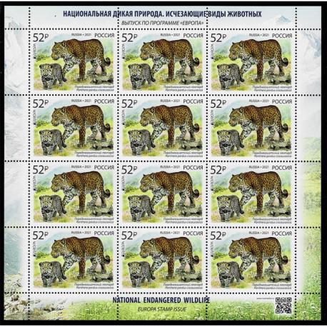 2021 Russia fauna nazionale - emissione Europa Minifoglio