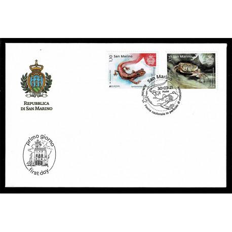 2021 San Marino fauna nazionale - emissione Europa FDC